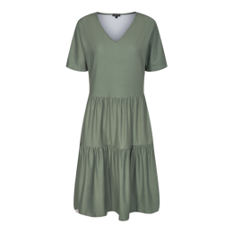 ALMA SHORT LOOSE DRESS DUSTY ARMY